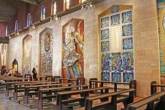 Intérieur de la basilique de l'annonce ou de l'église de l'annonce à Nazareth photos libres de droits