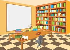 Intérieur de la bibliothèque Photographie stock libre de droits