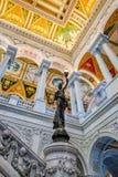 Intérieur de la Bibliothèque du Congrès à Washington D C Photos libres de droits