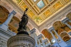 Intérieur de la Bibliothèque du Congrès à Washington D C Images stock