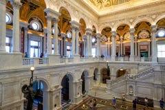 Intérieur de la Bibliothèque du Congrès à Washington D C Photo libre de droits
