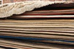Intérieur de la boutique de tapis photos libres de droits
