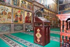 Intérieur de la cathédrale d'hypothèse dans le monastère d'Iversky Photographie stock libre de droits