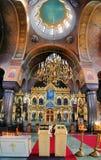 Intérieur de la cathédrale d'Uspenski, Helsinki photo libre de droits
