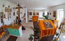 Intérieur de la cathédrale dans Borovichi, Russie Image stock