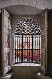 Intérieur de la cathédrale de Cuenca, chapelle Muñoz, gril de images stock