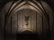 Intérieur de la cathédrale de la croix et du saint saints Eulalia, le 31 mars 2013 à Barcelone, Espagne Photo stock