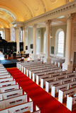 Intérieur de la chapelle commémorative, Université d'Harvard Image libre de droits