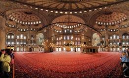 Intérieur de la mosquée de Sultanahmet à Istanbul Photo libre de droits