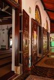 Intérieur de la mosquée ou du Masjid Tengkera de Tranquerah Images stock
