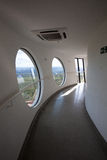 À l'intérieur de de la plate-forme de visionnement de la tour de Brasilia Digital TV Photos libres de droits