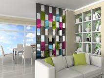 intérieur de la salle moderne, salle de séjour Photo stock