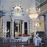 Intérieur de la synagogue flamande du Gibraltar photographie stock libre de droits
