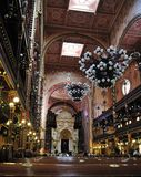 Intérieur de la synagogue grande, Budapest Photos stock