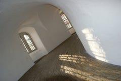 Intérieur de la tour ronde à Copenhague Photographie stock libre de droits