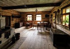 Intérieur de la vieille maison de village Image libre de droits