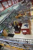 Intérieur de laboratoire d'expérience de physique de Scientfic photographie stock libre de droits