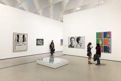 Intérieur de large Art Museum contemporain photos stock