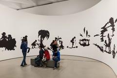 Intérieur de large Art Museum contemporain photographie stock libre de droits