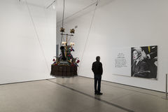 Intérieur de large Art Museum contemporain image libre de droits