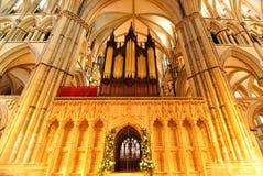 Intérieur de Lincoln Cathedral Images libres de droits