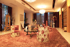 Intérieur de lobby d'hôtel Photos stock
