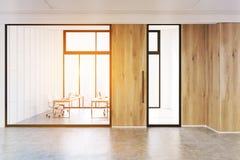 Intérieur de lobby moderne de bureau, verre, modifié la tonalité Photo libre de droits