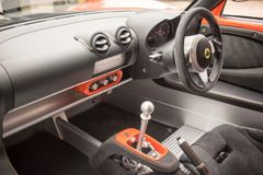 Intérieur de Lotus Exige Sport 380 Photo stock