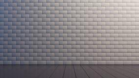Intérieur de lumière avec le mur de briques Photographie stock libre de droits