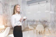 Intérieur de luxe de dîner, coin, femme Photo libre de droits