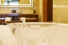 Intérieur de luxe de salle de bains Photographie stock