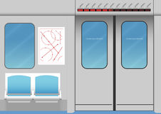 Intérieur de métro Photos libres de droits