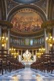 Intérieur de Madeleine Church La Madeleine, Paris, France image libre de droits