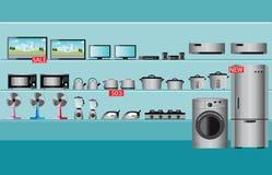 Intérieur de magasin de l'électronique illustration stock