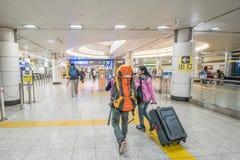 Intérieur de manière de promenade d'aéroport international de Narita Photo stock