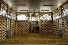 Intérieur de Masjid Ihsaniah Iskandariah chez Kuala Kangsar photographie stock