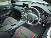Intérieur de Mercedes-Benz A45 AMG 2016 Photo stock