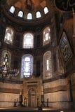 Intérieur de mihrab dans Hagia Sophia image libre de droits