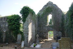 Intérieur de monastère de Killydonnell Photos libres de droits