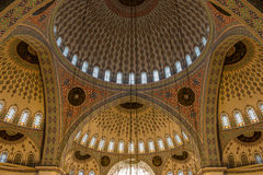 Intérieur de mosquée de Kocatepe, Ankara, Turquie Images libres de droits