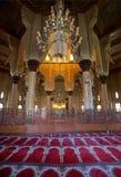 Intérieur de mosquée, l'Alexandrie, Egypte Photos libres de droits