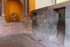 Intérieur de musée complexe de Koricancha dans Cusco, Pérou Image libre de droits