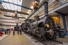 Intérieur de musée technique national à Prague Pendant plus de cent années Co étendue Image stock