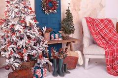 Intérieur de Noël Images libres de droits