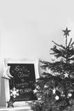 Intérieur de Noël de vintage Images libres de droits