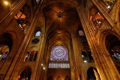 Intérieur de Notre Dame Image stock
