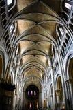 Intérieur de Notre Dame de cathédrale à Lausanne Photo libre de droits