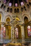 Intérieur de Notre Dame de cathédrale à Lausanne Photos stock