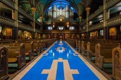 Intérieur de Notre-Dame De Montréal photographie stock