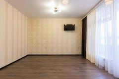 Intérieur de nouvelle chambre à coucher non meublé photo stock